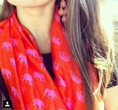 Hot Pink Elephants Scarf