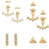 Pave Triangle Ear Jackets
