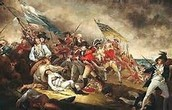 A painting of the Americans about to surrender to the British.