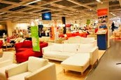 the inside of IKEA