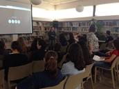 """הרצאה במיומנויות יסוד במרחב הדיגיטלי על ידי המידענית של ביה""""ס, הגב' ריטה שטכמן"""