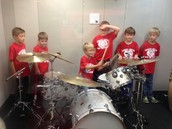 Cooper,Dylan, Will, Jackson, Ben and Max with the drums!