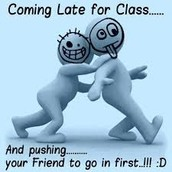 Coming to class on time
