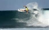El océano donde yo hacer surf