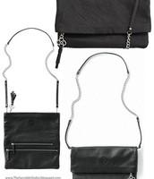 Black Leather Waverly Crossbody $75