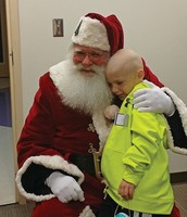 Corbin with Santa