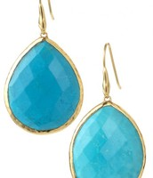 Serenity Stone - turquoise/gold - $25