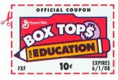 Box Tops for Education . . .