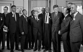 Black Civil Rights Leaders Meeting With The President