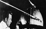 A soviet making the Sputnik 1