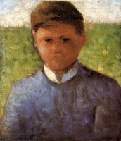Young peasant in blue. Georges Seurat