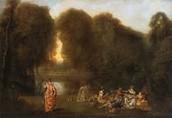 Gathering in the Park by: Antoine Watteau