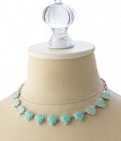 Somervell Necklace - Aqua/Silver