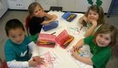 Coloring Shamrock Puzzles
