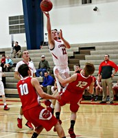 Kevin Schmitz goes up for a score versus Carrollton in the Lawson Tournament