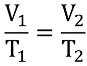 Charles Law Equation