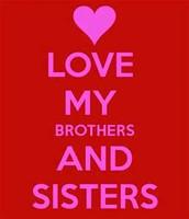 Siblings at Field Day