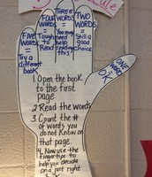"Using the 5-finger rule to select a ""just right"" book."