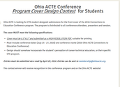 Contest for CTE Students-Design Ohio ACTE Conference Program Cover