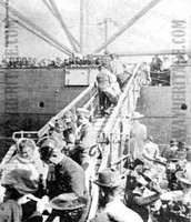 Immigrants Boarding To go to America