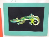 Collage Lizard by Tristan, 6th Grade