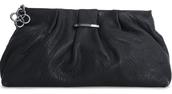 La Coco Clutch- Black Leather