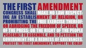 The First Amendment.