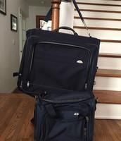 Samsonite hanging luggage and carry on bag $40