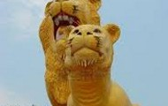Famous lions in Cambodia
