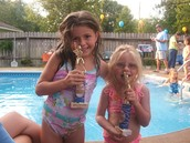 Me encantaba ir a nadar con mi hermana