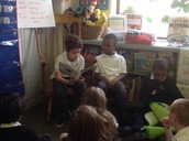 Aaron sharing his book.