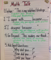 Sentence Stems for Math Talk