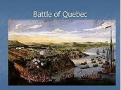 A painting of the river where the battle of Quebec was fought.