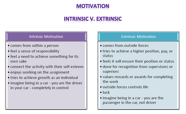 intrinsic motivation essay Intrinsic motivation and the five-paragraph essay: lessons learned on practitioner research, the role of academic research in the classroom, and assessing changes in student motivation.