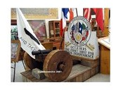 Cannon and flag of Gonzales