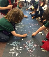 Rangolis in Art Class