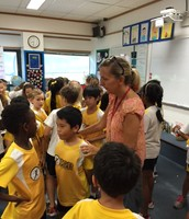Ms Giles and Ms Day's Classes get together