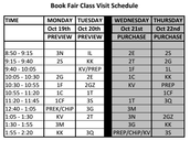 Book Fair Schedule