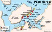 map of pearl harbor during the attack