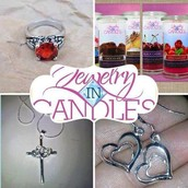 Every candle or tart you buy has a surprise piece of jewelry inside!