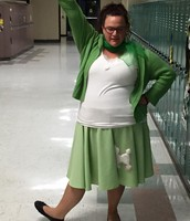 Mrs. Deleon gearing up for the Third Grade Musical