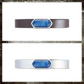Stone Geo Bar in Blue/Silver