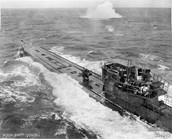 German U Boats in the Atlantic