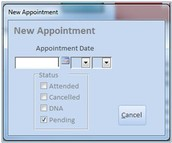 Create New Appointment