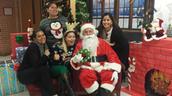 PTA Board Members bring Santa to Kiest