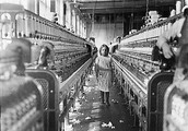 A child in a factory