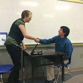 Mock interviews in freshman Professional Communications classes!