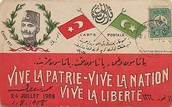 A young Turk flyer promoting the liberty of the Ottoman Empire