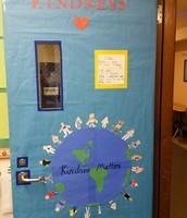 Kindness door decorating challenge