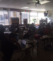 Students Engaged with their Devices